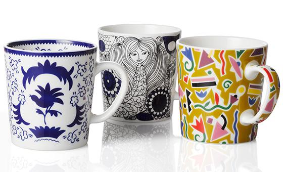 Arabia's Finland 100 mugs