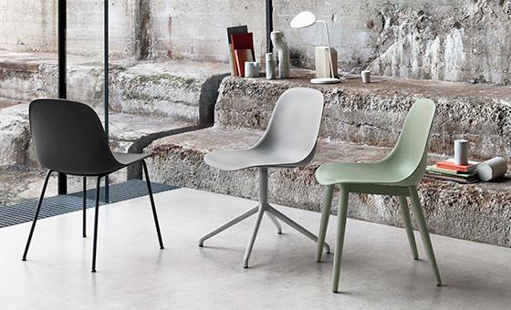 Fiber chairs by Muuto